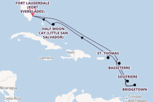 Journey from Fort Lauderdale (Port Everglades) with the ms Nieuw Statendam