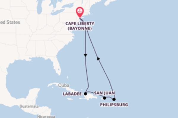 Sailing from Cape Liberty (Bayonne) via San Juan