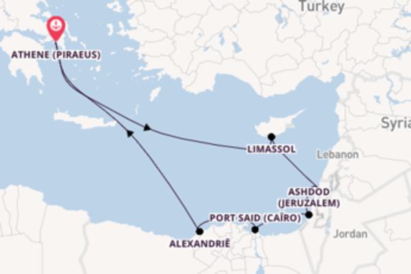 Vaar met de Azamara Journey naar Athene (Piraeus)