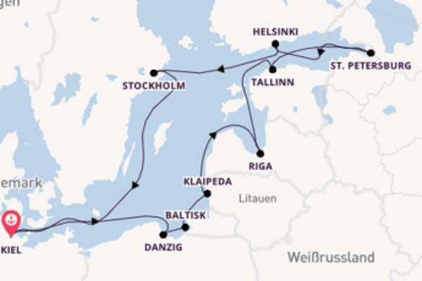 13 Tage Ostsee Kreuzfahrt