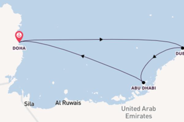 Vaar met de Mein Schiff 6 naar Doha