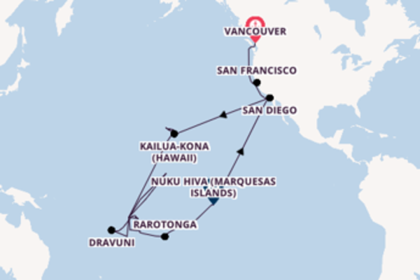 51 day cruise with the Zuiderdam to San Diego