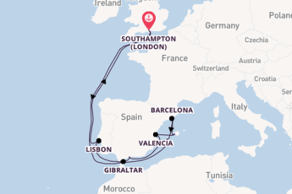 15 day cruise with the Anthem of the Seas to Southampton (London)