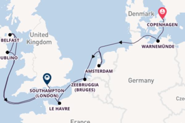 11 giorni di crociera fino a Southampton (London)