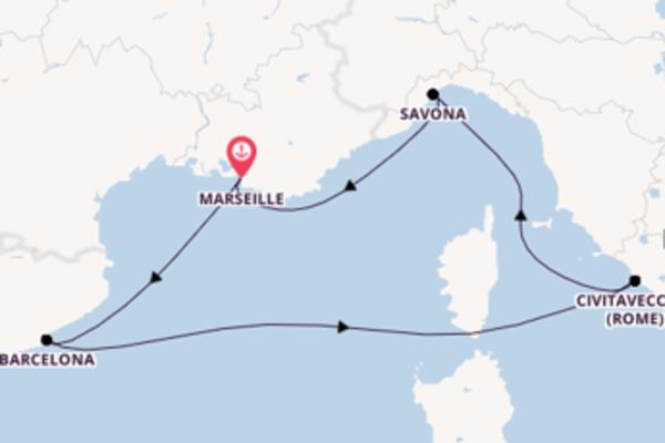 6-daagse cruise naar Barcelona