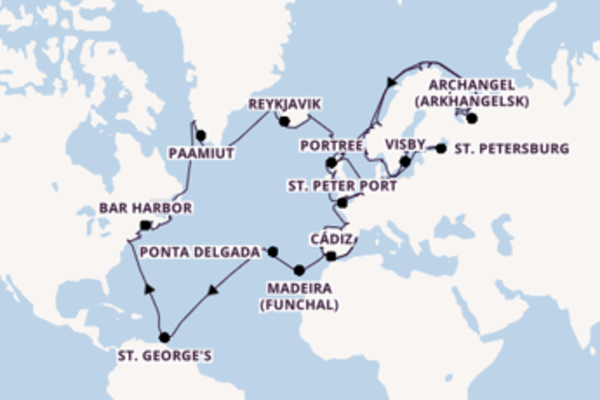Voyage from New York with the Seven Seas Navigator