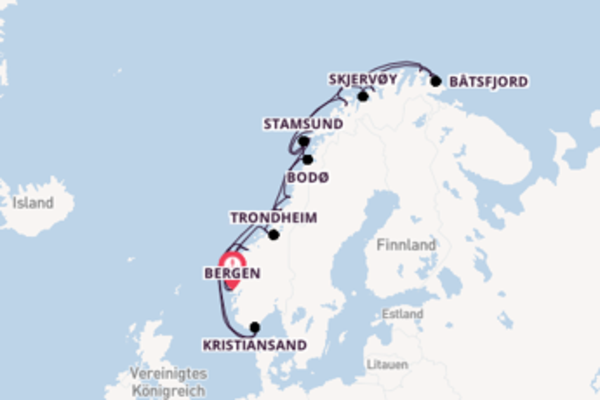 12 Tage Nordeuropa Reise