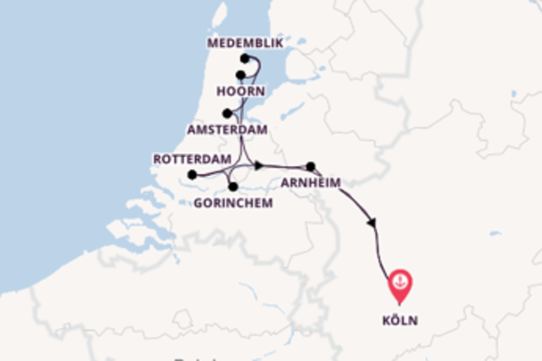 In 6 Tagen nach Köln über Hoorn