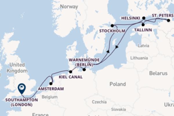 Trip with the Azamara Quest to Southampton (London) from Copenhagen