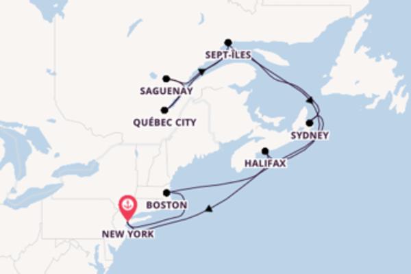Sailing from New York via Sydney