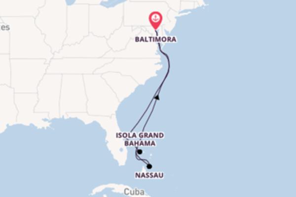 Lasciati incantare da Nassau partendo da Baltimora