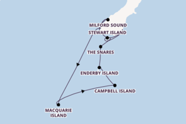 Iconic cruise from Dunedin with Silversea