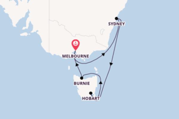 Cruise in 8 dagen naar Melbourne met Cunard