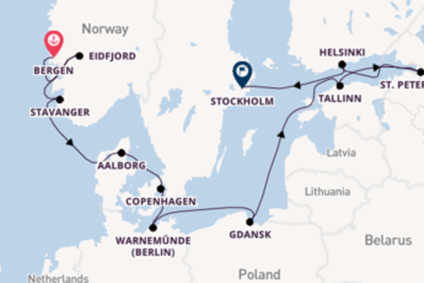 Cruise with Viking Ocean Cruises from Bergen