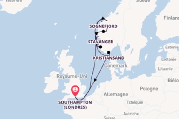 Åndalsnes depuis Southampton (Londres) pour une croisière de 13 jours
