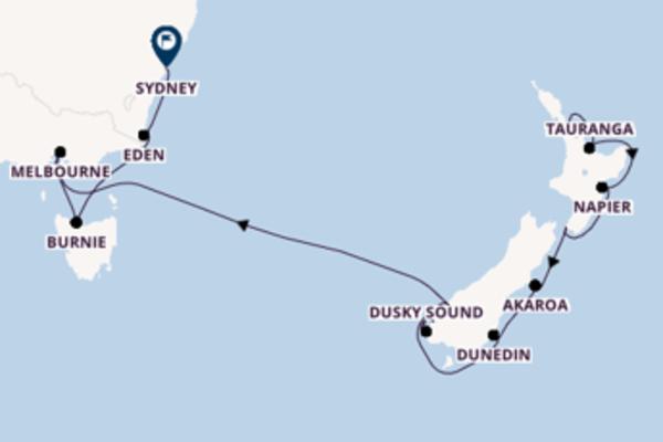 Da Auckland a Sydney passando per Milford Sound in 13 giorni