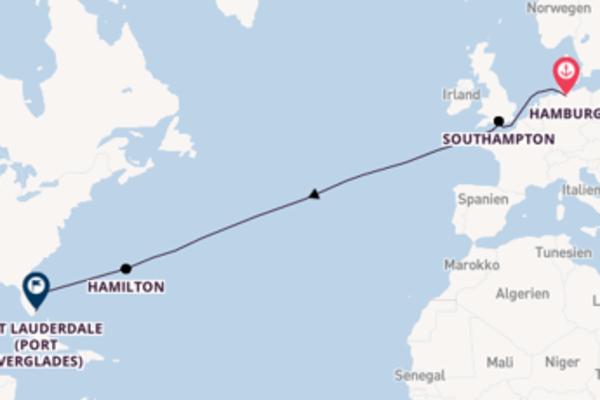 Kreuzfahrt mit Queen Victoria von Hamburg nach Fort Lauderdale (Port Everglades)
