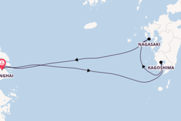 6 day trip on board the Spectrum of the Seas from Shanghai