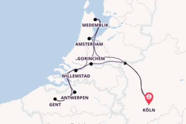 Einmalige Reise nach Köln
