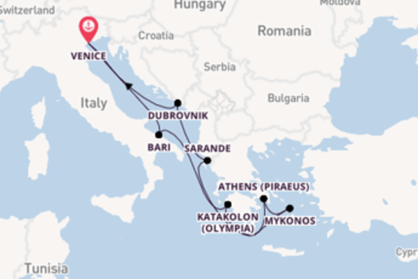8 day sail on board the MSC Orchestra from Venice