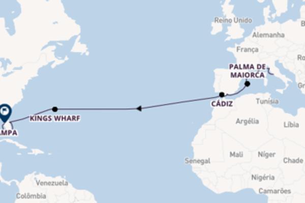 Navegue a bordo do Norwegian Dawn em 18 dias