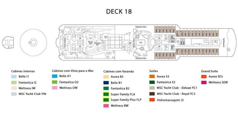 MSC Seaview Deck 18