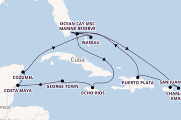 Sailing from Miami via Costa Maya