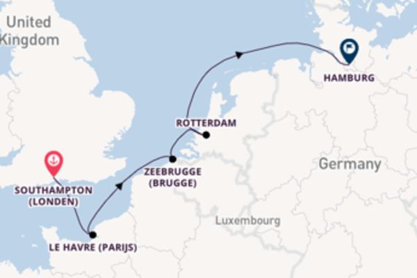 6-daagse reis naar Hamburg