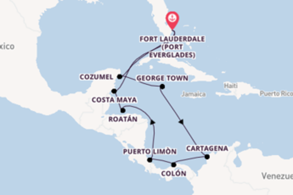Voyage from Fort Lauderdale with the Celebrity Reflection