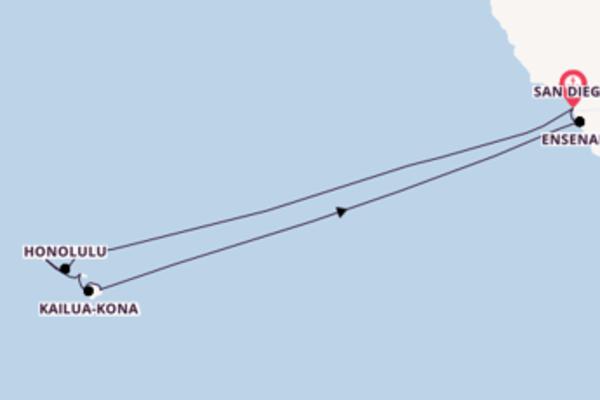 18-daagse cruise met de Koningsdam vanuit San Diego