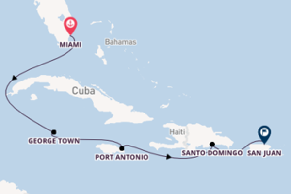 Journey with Regent Seven Seas Cruises from Miami