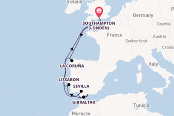 Ga mee op de Queen Victoria naar Southampton (Londen)