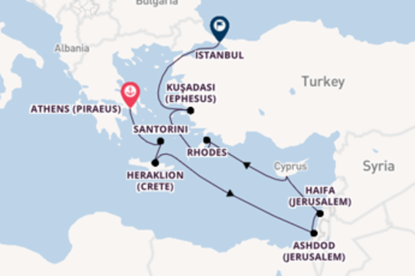 Sailing with Oceania Cruises from Athens (Piraeus) to Istanbul