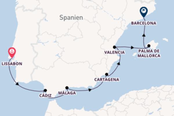 Lissabon und Barcelona genießen