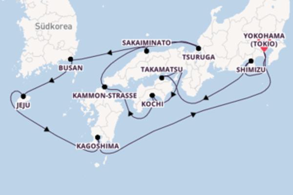 15-tägige Kreuzfahrt ab Yokohama (Tokio)