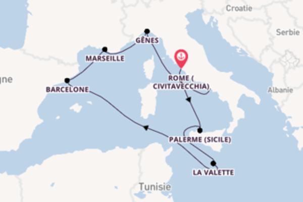 Merveilleuse balade de 8 jours avec MSC Croisières
