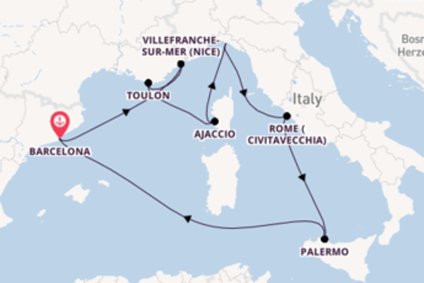 Cruise from Barcelona with the Vision of the Seas