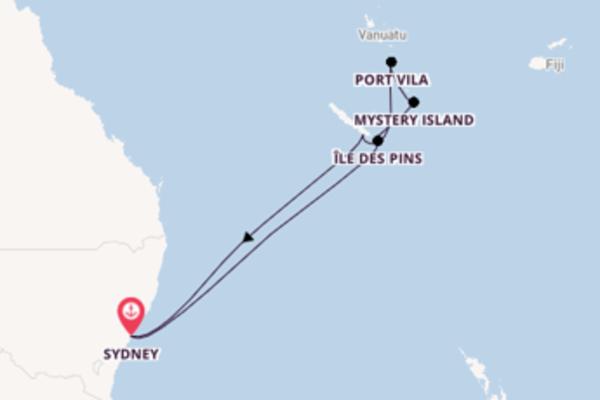 10-daagse cruise naar Mystery Island