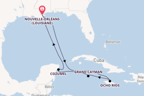 Ocho Rios et une incontournable croisière depuis Nouvelle-Orléans (Louisiane)