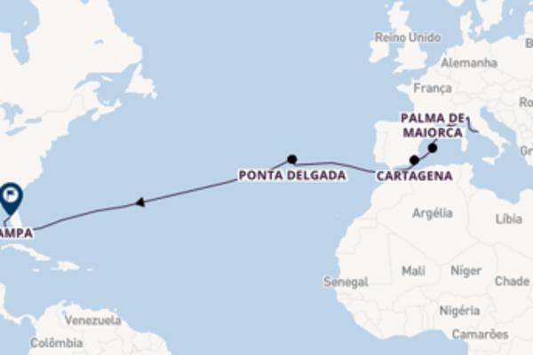 Esplêndido cruzeiro de 16 dias até Tampa