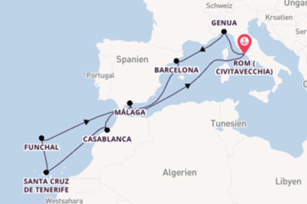 12 Tage Mittelmeer Reise