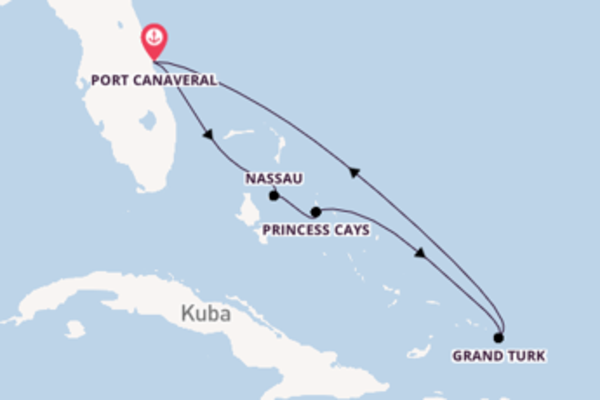 In 6 Tagen nach Port Canaveral