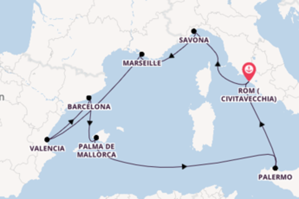 Einmalige Reise über Marseille in 10 Tagen