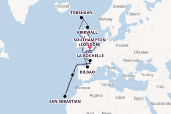 Glorious expedition from Southampton (London) with Oceania Cruises