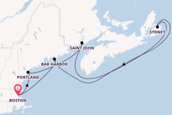 8 day cruise with the Voyager of the Seas  to Boston