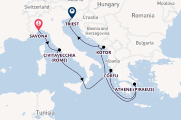 9-daagse reis aan boord van de Costa Luminosa