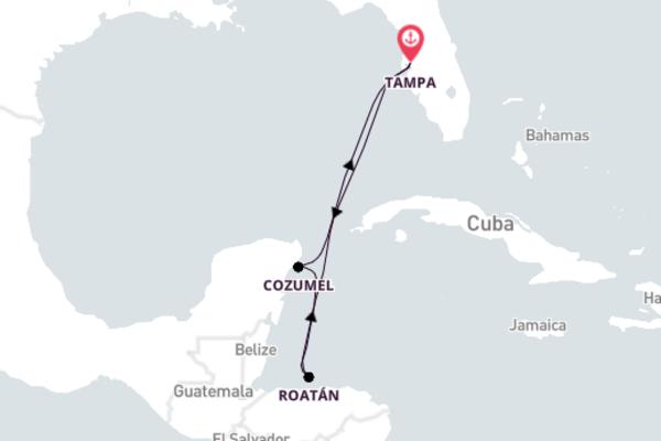 Historic Mahogany Bay with Carnival Cruise Lines