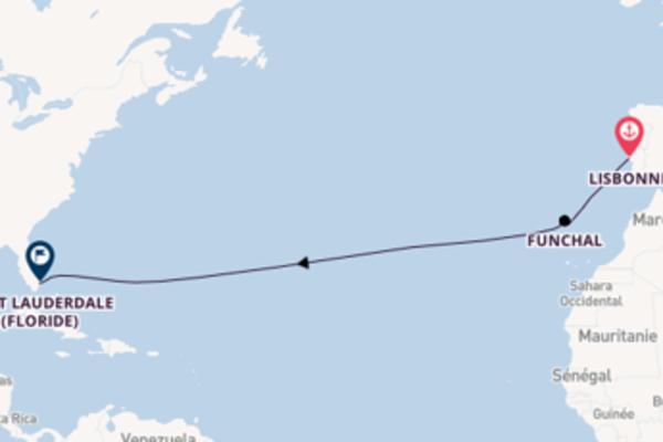 Funchal, depuis Lisbon à bord du bateau Silver Spirit