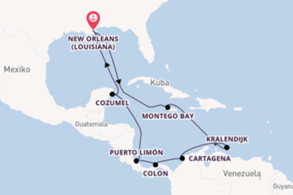 In 15 Tagen nach New Orleans (Louisiana) über Montego Bay