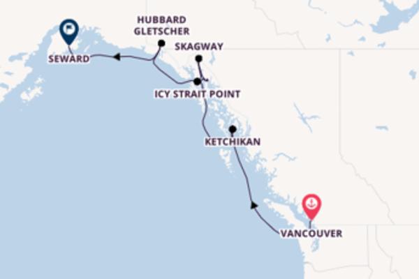 Beeindruckende Kreuzfahrt über Ketchikan nach Seward